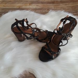 Lucky Brand ORAND Studed Ankle Cross Strap Sandals